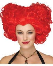 Heart Queen Wig Red