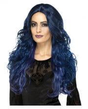 Hexen Siren Perücke blau-schwarz