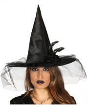 Witch Hat With Flower And Tulle