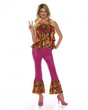 Hippie Girl Costume With Bell-bottoms