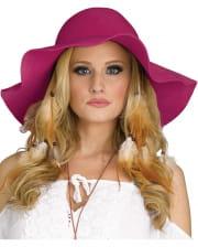 Hippie Kostümhut pink