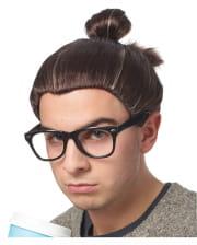 Hipster Man Bun Perücke