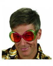 Bunte 70er Jahre Retro Brille