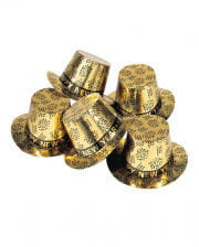 Happy New Year Zylinder golden