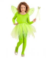 Schmetterlings Fee Set - Neongrün 3-tlg.