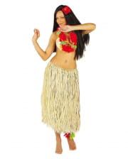 Raffia Hula Skirt Beige