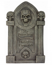 Hy Pocondriac Tombstone With Skulls 70cm