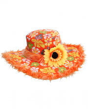 Ibiza Hut mit Plüsch Orange