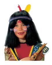Indianer-Kinderperücke schwarz