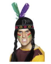 Indianer Stirnband mit 2 Federn
