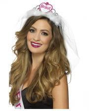 "Glitter tiara with ""bridal"" print"