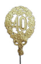 Anniversary number 40 gold