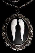 Cameo Necklace Angel Wings