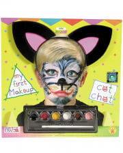 Kinder Katzen Make-Up Kit mit Katzenohren
