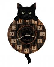 Katzen Wanduhr mit Pendel
