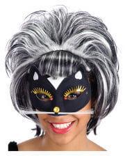 Katzen Maske mit Glimmer und Strass