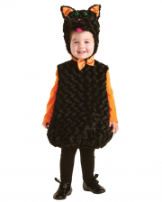 Black cat baby costume