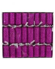 Knallbonbons Glittereffekt Pink 8 St.