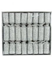 Glitter Effect Silver 8 Pc.