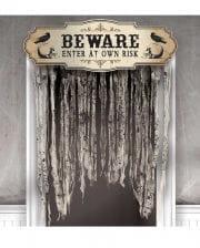 Bone Cemetery Door Curtain