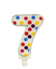 Confetti Number Candle No. 7 (6,5cm)