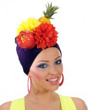 Kostümhut Miranda mit Früchten