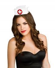 Mini satin nurse hat
