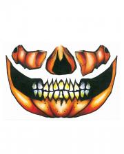 Pumpkin Face Tattoo
