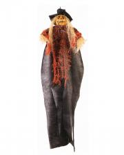 Pumpkin Scarecrow Hanging Figure 60cm