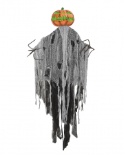 Pumpkin Scarecrow In Rag Dress With LED