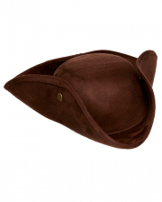 Imitation Leather Tricorn Brown