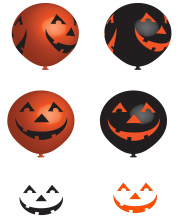 Laughing Pumpkins Latex Balloons 6 Pcs.