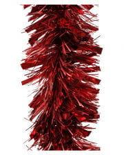 Lametta-Girlande glanz/matt - Weihnachtsrot 2,7m