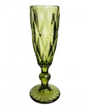 Lenora Gothic Champagne Glass Green