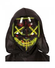 Leuchtende LED Guy Fawkes Maske Schwarz