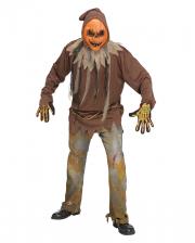 Leuchtendes Kürbis Zombie Kostüm One Size