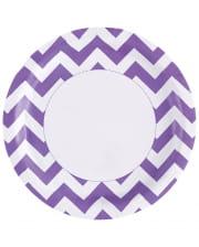 Purple Zig-zag Paper Plate 8 Pcs.