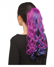 Curly Unicorn Hairpiece Purple