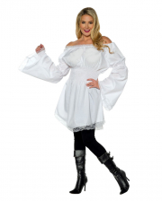 Longshirt Frill Blouse White