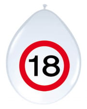 Luftballon Verkehrsschild 18