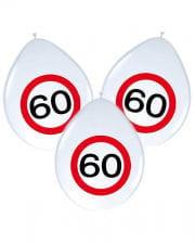 Luftballons Verkehrsschild 60