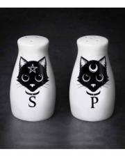 Magical Wicca Cats Salt & Pepper Shaker Set