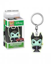 Maleficent Glow In The Dark Key Chain Pocket Pop