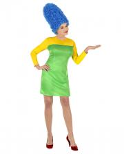 Marge Comic Lady Kostüm mit Perücke