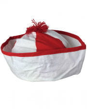 Matrosenmütze rot-weiß