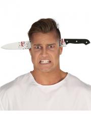 Messer im Kopf Halloween Haarreif