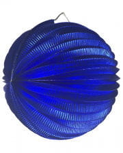 Metallic balloon lantern blue 25 cm