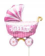 Mini Foil Balloon Stroller - It´sa Girl -