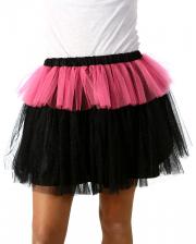 MonStar Glitzer Tüllrock schwarz-pink