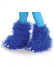 Monster Fur Boot Covers Blue